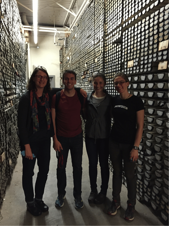"Visiting the ""library of mud"" at Woods Hole Oceanographic Institution with Bowdoin summer research students"