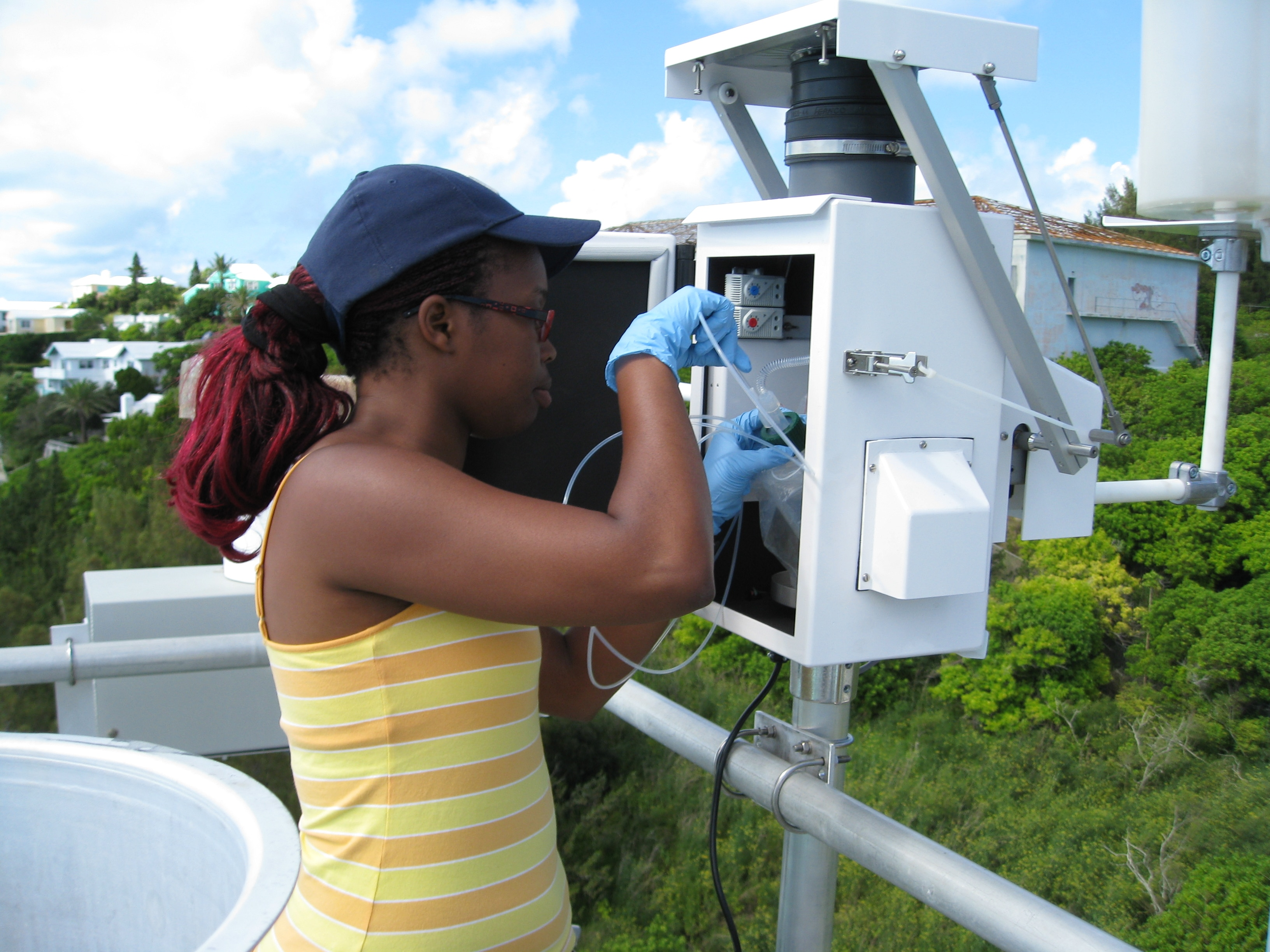Setting up an automated rain collector in Bermuda