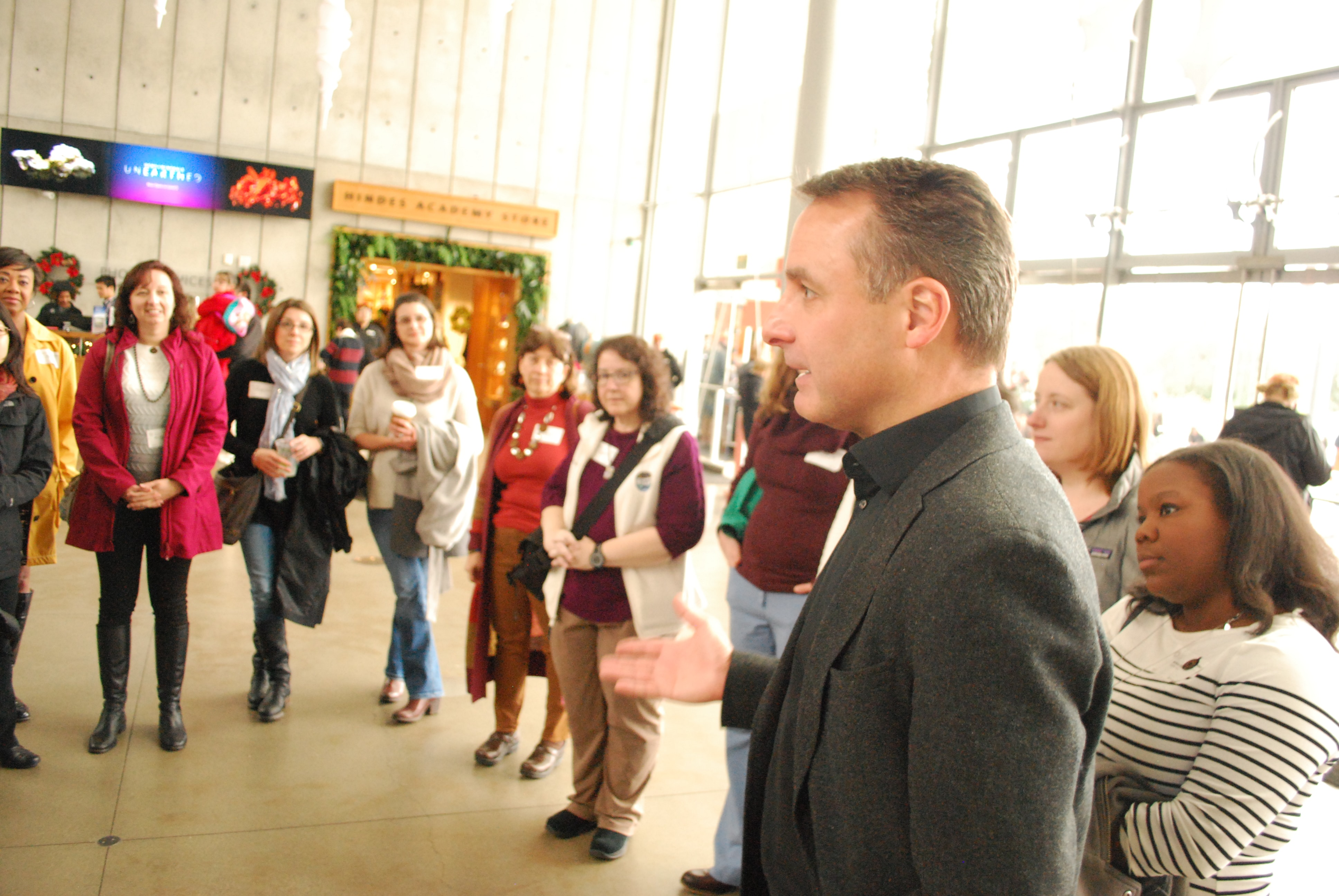 CAS Director Jon Foley leading a special ESWN tour of the California Academy of Sciences