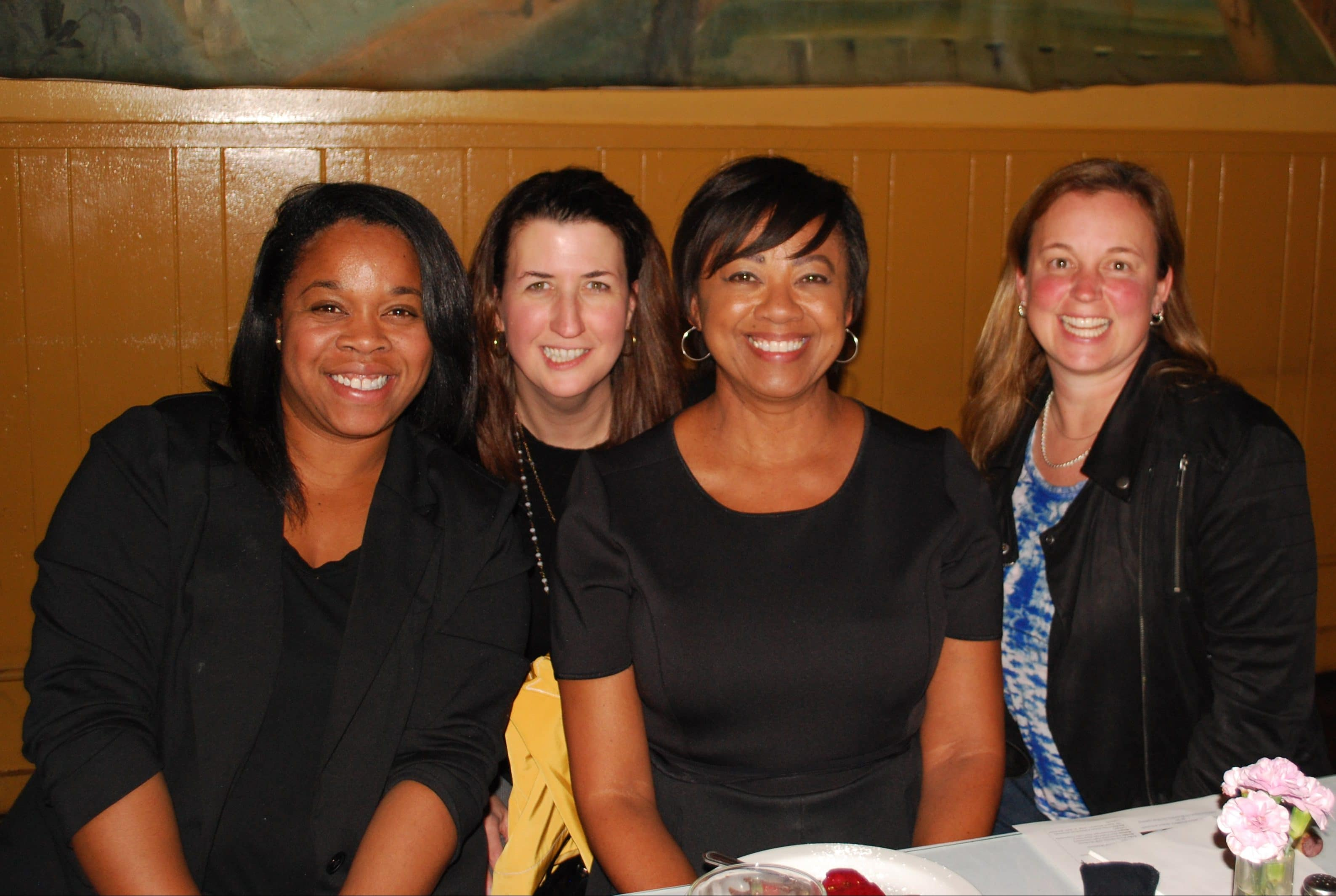 Melanie Harrison Okoro, Tracey Holloway, Janice Huff, and Chris Olex at ESWN's thought-leaders dinner