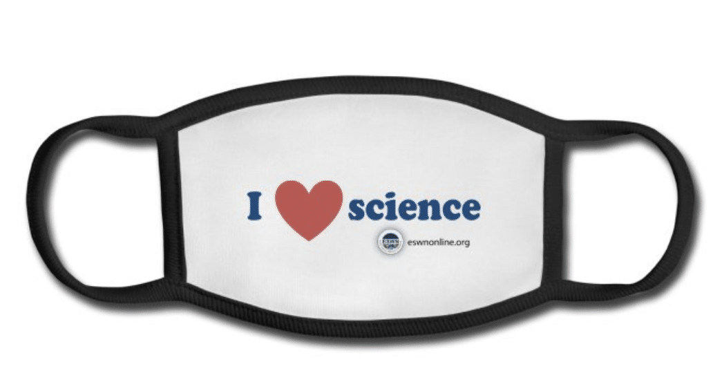 ESWN Facemask I Heart Science