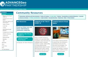 Screenshot of ADVANCEGeo Webpage